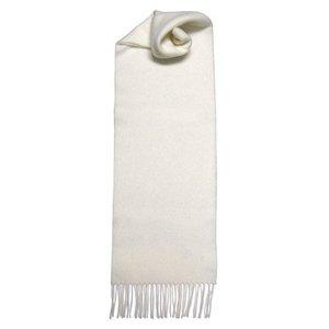 Johnstons of Elgin Johnstons 100% Lambswool Scarf - White
