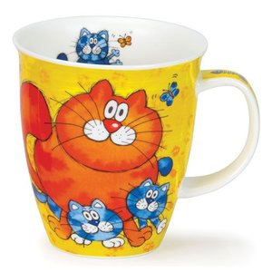 Dunoon Dunoon Nevis Cats and Kittens Mug - Yellow