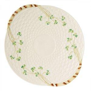 Belleek Belleek Shamrock Bread Plate
