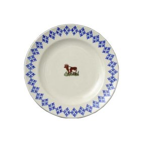 Brixton Pottery Brixton Pottery Cows Dessert Plate
