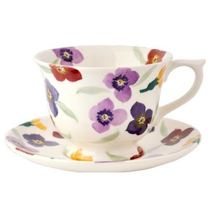 Emma Bridgewater Bridgewater Wallflower Large Teacup and Saucer