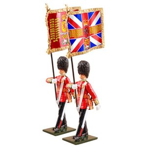 W. Britain 48017 - W. Britain Queen's Diamond Jubilee Set, Scottish Guards with Guard's Colors