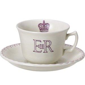 Burleigh Pottery Burleigh Queen's 90th Birthday Teacup & Saucer