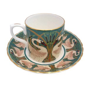 Museum Collections Swans and Bullrush Demi-Tasse