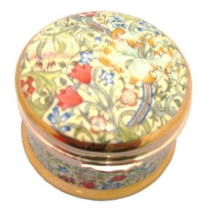 William Morris Golden Lily Round Hinged Box