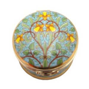 Arts & Crafts Collection Daffodil Round Hinged Box