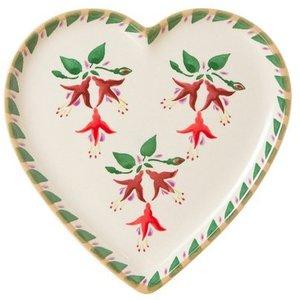 Nicholas Mosse Nicholas Mosse Fuchsia Heart Plate