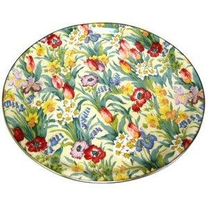 "Keswick & Arnold Designs Service Trays Keswick & Arnold Designs Salad Days 14"" Round Tray"