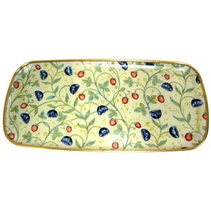 "Keswick & Arnold Designs Service Trays Keswick & Arnold Designs Strawberry & Cornflower 15""x7.5"" Sandwich Tray"