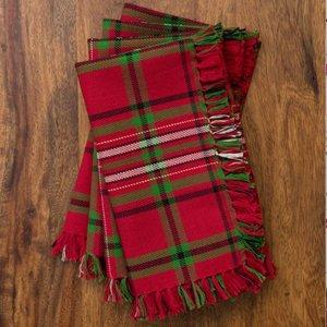 April Cornell April Cornell Christmas Plaid Napkins