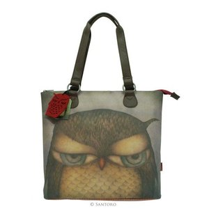 Santoro London Grumpy Owl Shoulder Bag