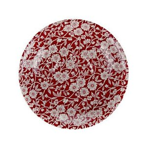 Burleigh Pottery Calico Red 7.5 in. Plate