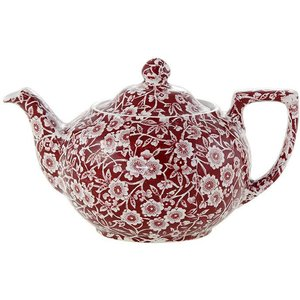 Burleigh Pottery Calico Red 7 Cup Teapot