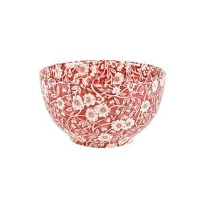 Burleigh Pottery Calico Red Cereal Bowl