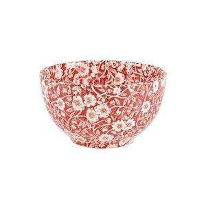 Burleigh Pottery Calico Red Small Sugar Bowl