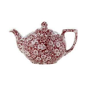 Burleigh Pottery Calico Red 3-4 Cup Teapot