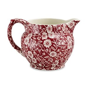 Burleigh Pottery Calico Red Small Dutch Jug