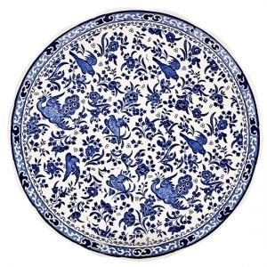 Burleigh Pottery Regal Peacock Blue 10 in. Dinner Plate