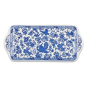 Burleigh Pottery Regal Peacock Blue Sandwich Tray