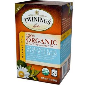Twinings Twinings 20 ct Organic Chamomile, Mint & Lemon Herbal