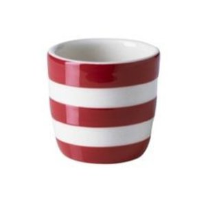 Cornishware Straight Egg Cup - Red