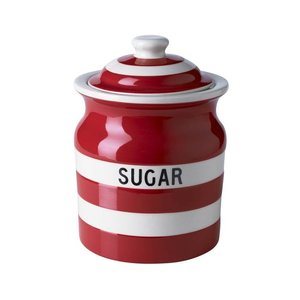 Cornishware Sugar Storage Jar 30oz - Red