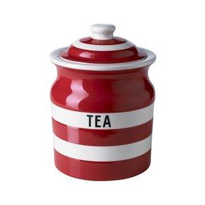 Cornishware Tea Storage Jar 30oz - Red