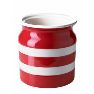 Cornishware Utensils Jar 30oz - Red