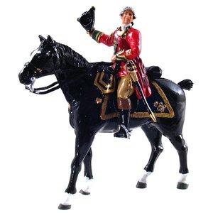 W. Britain 47021 - W. Britain British 45th Regiment Officer, Mounted, 1754-1763