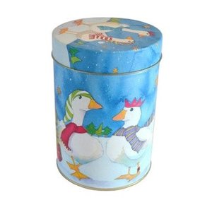 Emma Ball Christmas Goose Round Tin