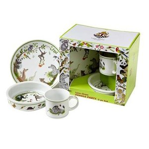 Lynn Chase Jungle Party 3-Piece Feeding Set
