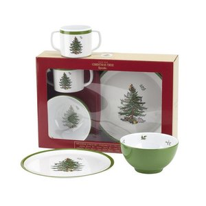 Spode Spode Christmas Tree 3-Piece Feeding Set