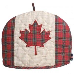 Woven Magic Canadian Flag Tea Cosy- Patriotic Plaid