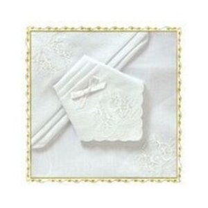 McCaw Allan McCaw Allan Ladies Embroidered Handkerchief