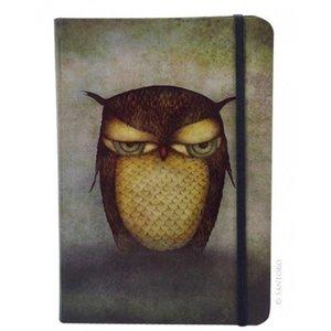 Santoro London Grumpy Owl Hardcover Notebook