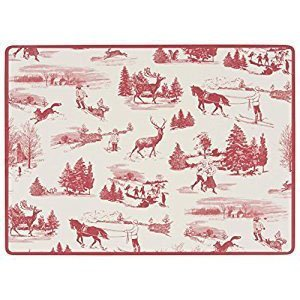 Now Designs Holiday Toile Red Placemats