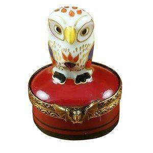 Rochard Limoges Limoges Indian Owl Box