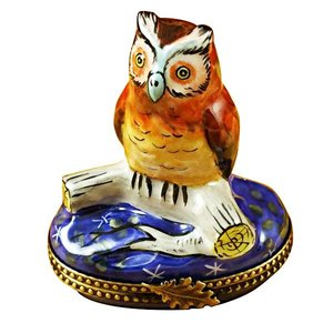 Rochard Limoges Limoges Barn Owl Box