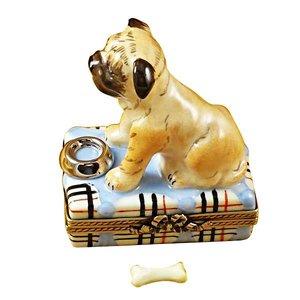 Rochard Limoges Limoges Pug Box
