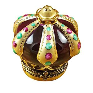 Rochard Limoges Limoges Crown With Jewels Box