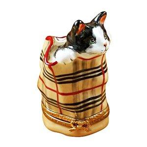 Rochard Limoges Limoges Cat in Bag Box