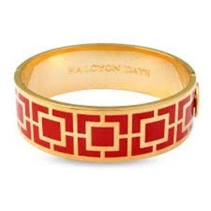 Halcyon Days Halcyon Days 19 mm Maya Bangle - Red and Gold