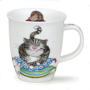Dunoon Dunoon Nevis Comfy Cats Grey Mug