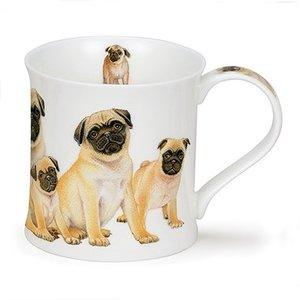 Dunoon Dunoon Wessex Designer Dogs Mug - Pugs