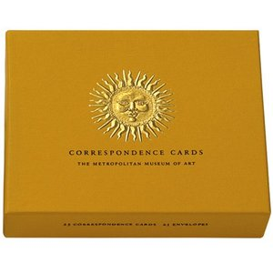 Sunburst Gold Embossed Correspondence Cards