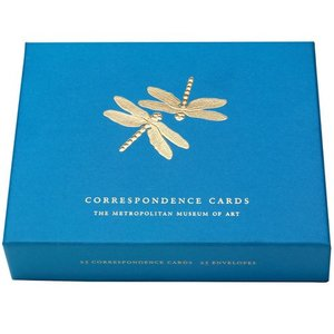 Dragonflies Gold Embossed Correspondence Cards