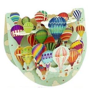 Santoro London Santoro Pop-up Card - Hot-Air Balloons