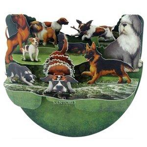Santoro London Santoro Pop-up Card - Dogs