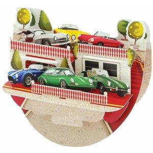 Santoro London Santoro Pop-up Card - Classic Cars