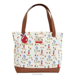 Santoro London Gorjuss Canvas Handbag-Pastel Patten Toadstools